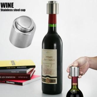 Vacío-de-acero-inoxidable-sellada-vino-tinto-tapón-de-la-botella-bomba-en-el-interior-Super