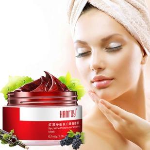 Polifenoles-de-vino-tinto-máscara-Facial-antioxidante-hidratante-eliminar-sueño-amarillo-del-tratamiento-de-cuidado-crema